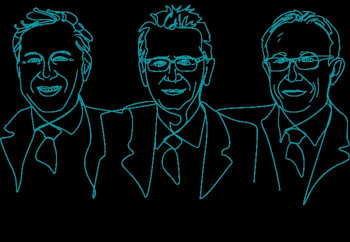 Andreas Freier, Martin Führlein und Oliver Groß